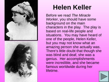The Miracle Worker Web Quest (Helen and Annie)