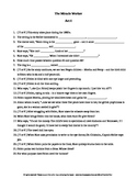 The Miracle Worker a play by William Gibson Complete Guided Reading Worksheets