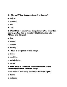 The Miraculous Journey of Edward Tulane 2 quizzes