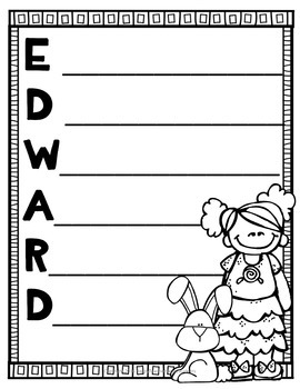 The Miraculous Journey of Edward Tulane Writing Activity with FREE Word Search
