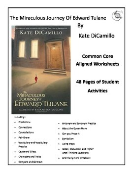 The Miraculous Journey of Edward Tulane 48 Common Core Aligned Worksheets