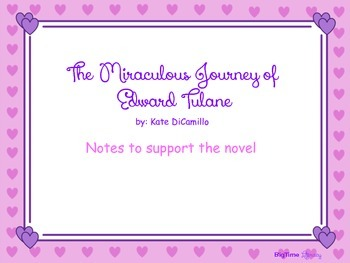 The Miraculous Journey of Edward Tulane - Chapter Notes