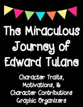 The Miraculous Journey of Edward Tulane Character Analysis Graphic Organizers