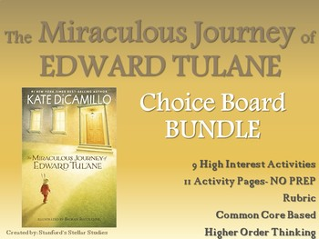 The Miraculous Journey of Edward Tulane CHOICE BOARD BUNDLE ** NO PREP