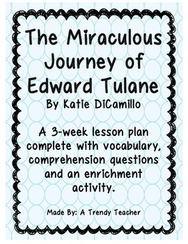 The Miraculous Journey of Edward Tulane - Guided Reading Lesson Plans