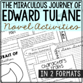 THE MIRACULOUS JOURNEY OF EDWARD TULANE Novel Study Unit Activities, In 2 Format