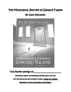 The Miraculous Journey of Edward Tulane  Literature Guide