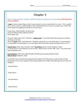 The Miraculous Journey of Edward Tulane Novel Unit Plus Grammar