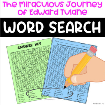 Word Search - The Miraculous Journey of Edward Tulane - Fun Bell Ringer!