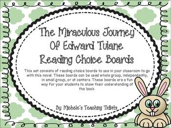 The Miraculous Journey of Edward Tulane Reading Choice Boards