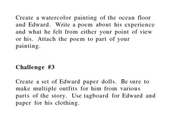 """The Miraculous Journey of Edward Tulane"" Student Challenges"