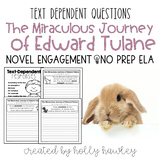 The Miraculous Journey of Edward Tulane Text Dependent Questions