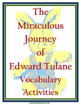 The Miraculous Journey of Edward Tulane Vocabulary Activities