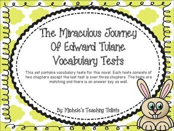 The Miraculous Journey of Edward Tulane Vocabulary Tests