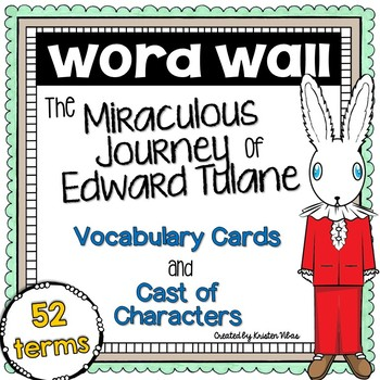 The Miraculous Journey of Edward Tulane Vocabulary Word Wall