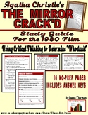 The Mirror Crack'd: Study Guide for the Agatha Christie Fi