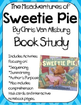 The Misadventures of Sweetie Pie Book Study: Organizers and Notebook Pages