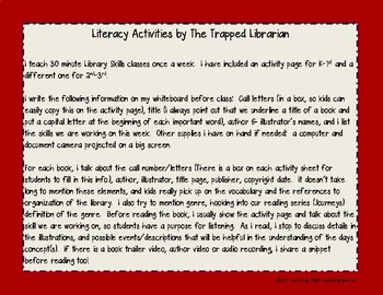 The Misadventures of Sweetie Pie:  Literacy Activities