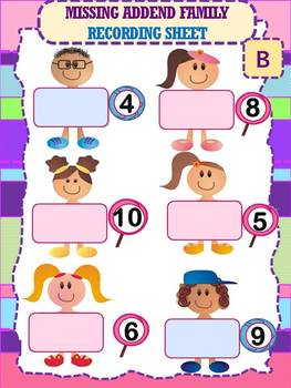 Composing and Decomposing Numbers: Missing Addends is Fun!