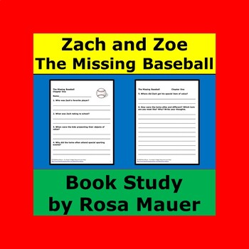 The Missing Baseball Zach and Zoe Book Unit