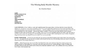 The Missing Body Murder Mystery PowerPoint