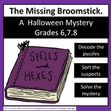 The Missing Broomstick: A Halloween Secret Code Mystery