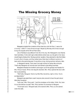 The Missing Grocery Money (Lexile 660)