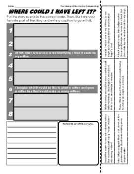 The Missing Mitten Mystery - Sequencing / Retelling