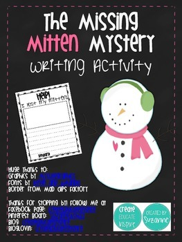 The Missing Mitten Mystery Writing Activity