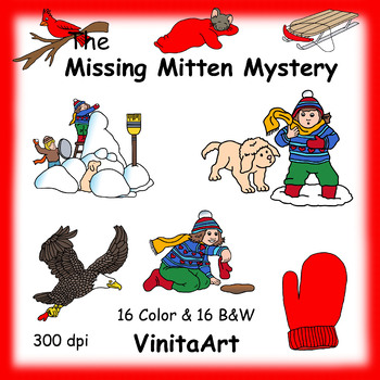 The Missing Mitten Mystery clip art