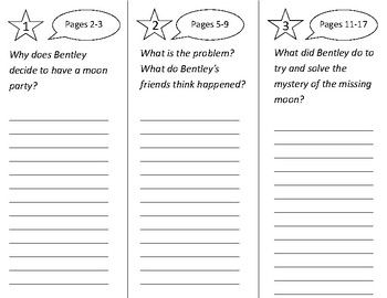 The Missing Moon Mystery Trifold - 2nd Grade Literacy By Design Theme 3