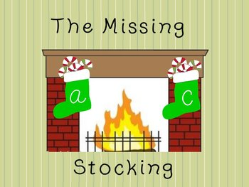 Interactive Grammar Flipchart The Missing Stocking ABC Order Game