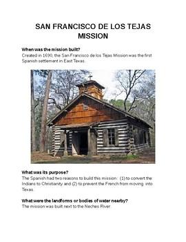 The Mission de los Tejas in Spanish Colonial Texas