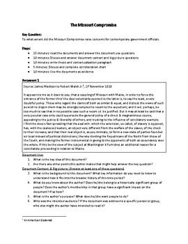 The Missouri Compromise (AP US History - 2017-2018 Rubrics)