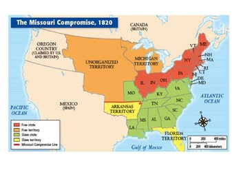 The Missouri Compromise Map Activity