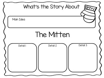 The Mitten by Jan Brett ~ 41 pages of Common Core Activities
