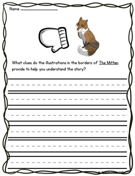 The Mitten Activities Book Companion (Reading Comprehension)
