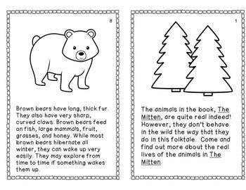 The Mitten by Jan Brett: A Common Core Aligned Book Study