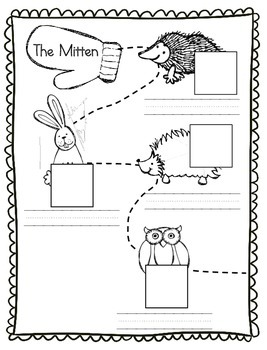 The Mitten Animal Parts Vocabulary Cut and Paste Activity