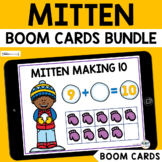 The Mitten Boom Cards BUNDLE for Preschool : Winter Boom Cards