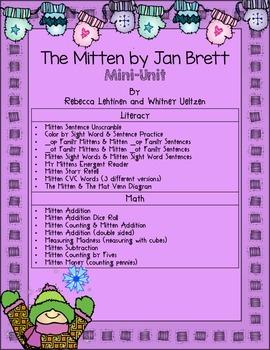 The Mitten By Jan Brett Mini Unit