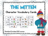 The Mitten Character Vocabulary Cards