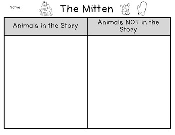 The Mitten Characters
