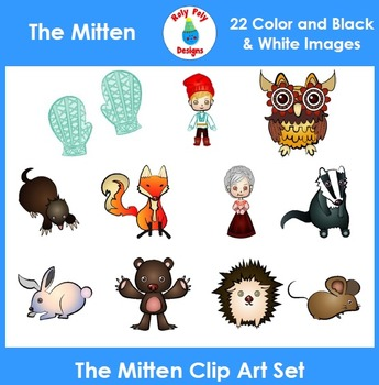 The Mitten Clip Art Set