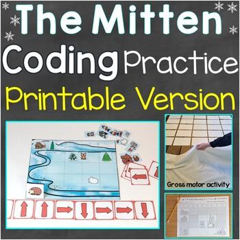 The Mitten Coding Practice Printable Version