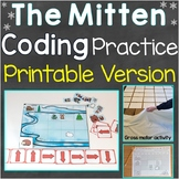 The Mitten Coding Practice Printable Version
