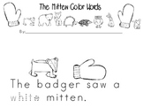 The Mitten Color Words Emergent reader