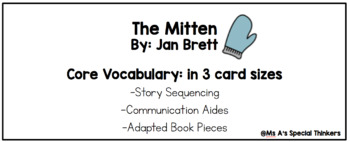 The Mitten Comprehension Questions and Core Vocabulary
