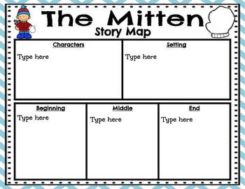 The Mitten Comprehension Set for Google Classroom and Google Slides