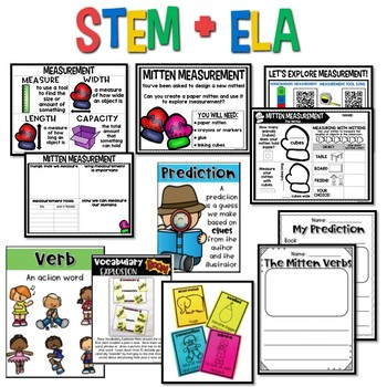 The Mitten FREEBIE {Kindergarten Storybook STEM}
